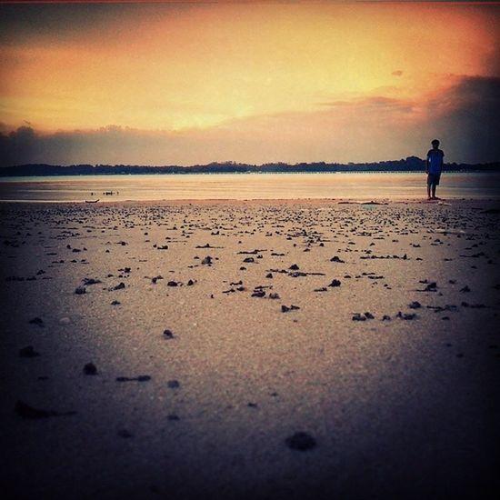 Beach CHILLINOUT Evenin Singapore 2013sunset!!!