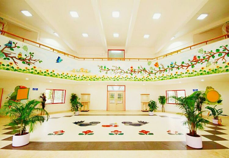 The Color Of School School Life  Schoolphotography School Entrance Ceremony Indoors  built structure Decoration Table Illuminated Decor Luxury Flower Pot Dining Table Lobby Luxury Hotel Interior Design Interiors Flower Arrangement Ceiling Lighting Equipment Architecture Modern Built Structure Decoration Table