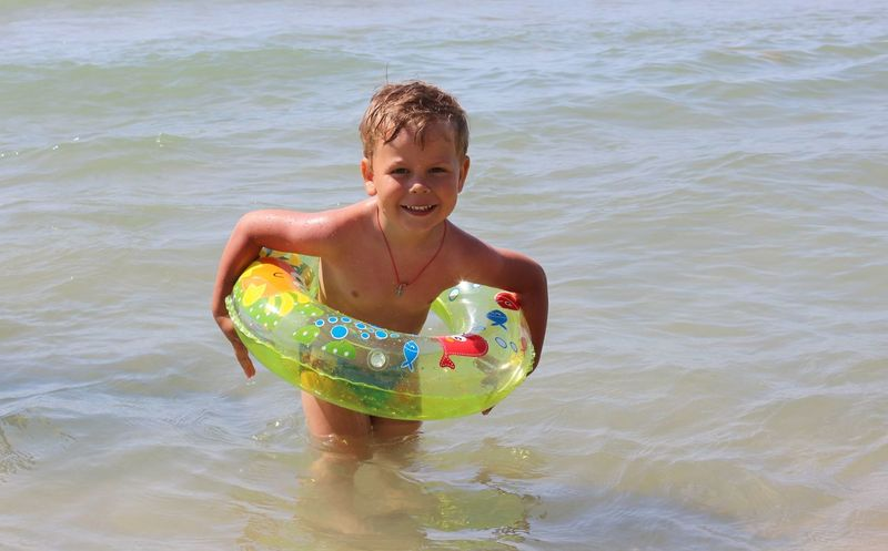 Bolgaria Casual Clothing Childhood Cute Day Enjoyment Fun Happiness Leisure Activity Lifestyles My Son Outdoors Person Portrait Rippled Sea Smail Vacations Water