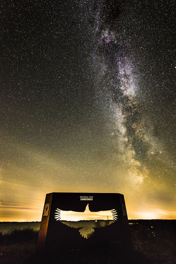Night Eagle Netherlands Nikon Silhouette Astronomy Beauty In Nature Colour Of Life Friesland Galaxy Lauwersmeer Milky Way Nature Night Outdoors Samyang Sky Space Star - Space Star Field