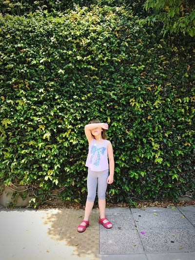 Full Length One Person Front View Blond Hair One Girl Only People Childhood Outdoors Children Only Standing Day Adult Nature Blinded By The Light Blinded No Vision Blind