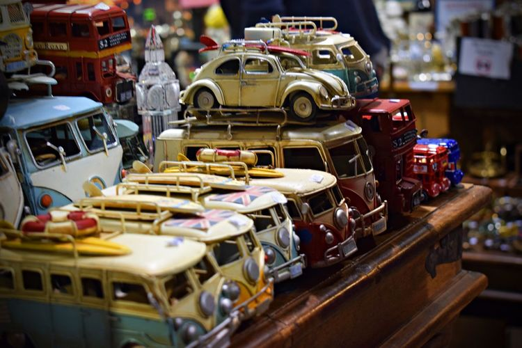 Toy cars for sale in store