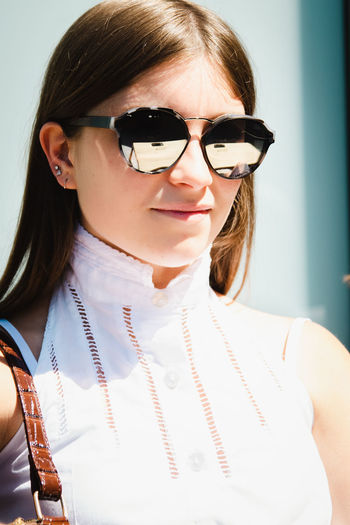 Portrait of a girl wearing eyeglasses