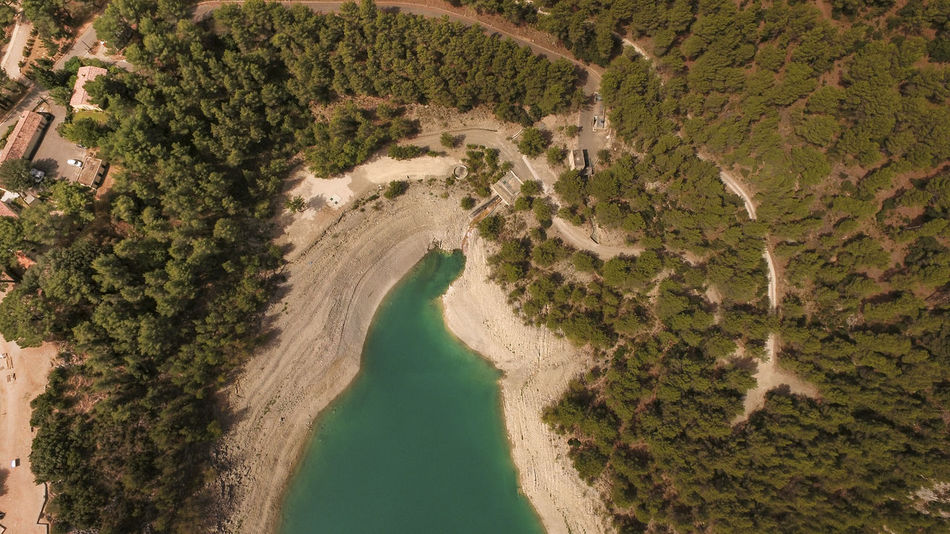 France Stausee Südfrankreich Wälder Aerial View Beauty In Nature Blue Curve Frankreich Growth Landscape Mountain Nature Outdoors River Sand Scenics Tranquility Tree Wald Water