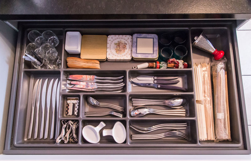 Arrangement Directly Above Everything In Its Place Indoorsphotography Kitchen Drawers Kitchen Utensils Knives And Forks My Tidy Kitchen Overhead View Photo From Above Utensils