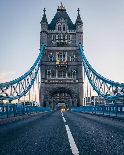 Tower bridge against sky