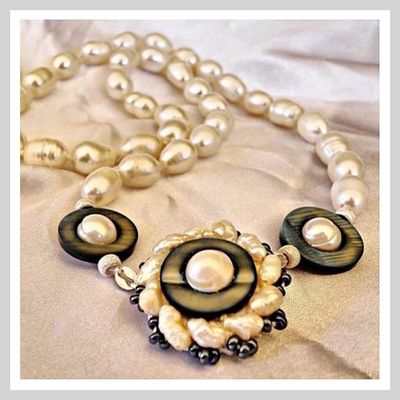 Sara Germani Design - Freshwater pearls necklace - Handmade Made in Italy