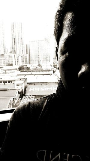 Sadness over concrete jungle Selfie Chiaroscuro  EyeemPhilippines EyeEm Mkunss Makuness Maku Selfportrait Shadows & Lights Blackandwhite Sad Sadness Pinoy Lgbt Concrete Jungle