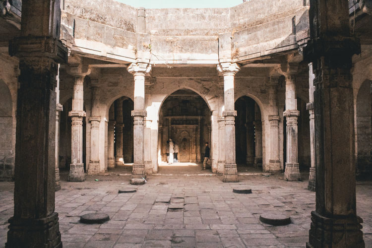 Courtyard of abandoned fort