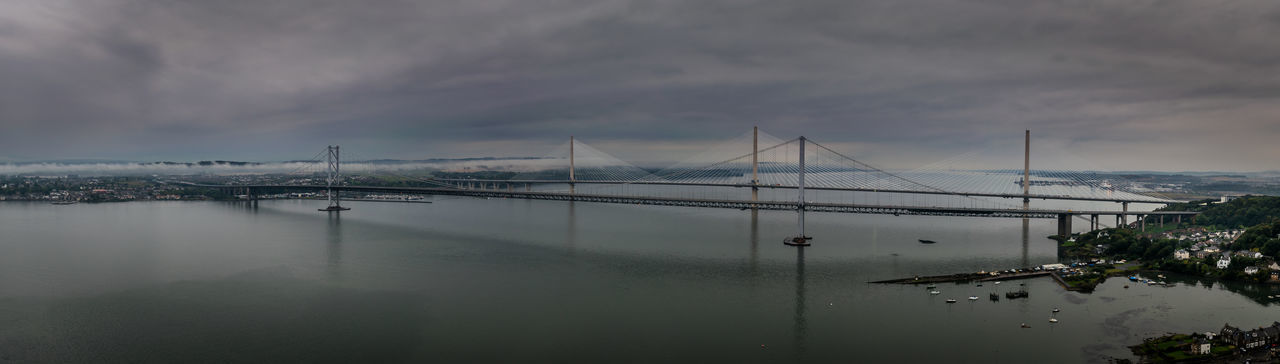 My view of the Forth Road Bridges (old and new) from on top of the Forth Rail Bridge. Bridges Cloudy Ocean View Panorama Panoramic Road Scotland Travel Bridge Bridge - Man Made Structure Ocean Sea Travel Destinations Water