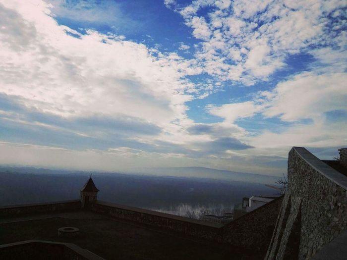 Slovakia🇸🇰 Sky Bratislava City! Capital City Cold Temperature Morning Nofilter Blue Lifestyles Hello World