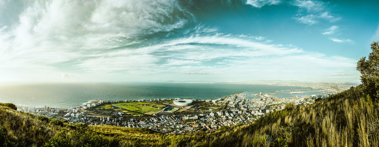 Lovely view over Capetown Water Tranquility Tafelberg Tablemountain Sunset Summer Sky Signal Hill Sea Scenics Outdoors No People Nature Kapstadt Horizon Over Water Day Clouds And Sky Cloud - Sky Capetown South Africa Capetown Blue Sky Beauty In Nature Architecture South Africa Cape Town