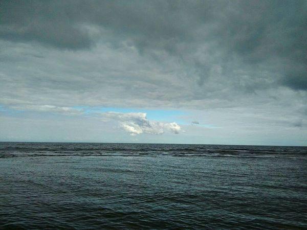 Silent moment. Sea Sky Calm