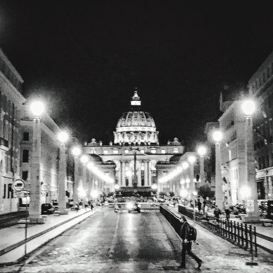 St. Peter View By Night Night Travel Street Photography Stpeter San Pietro Rome Roma Romebynight Architecture City The Graphic City