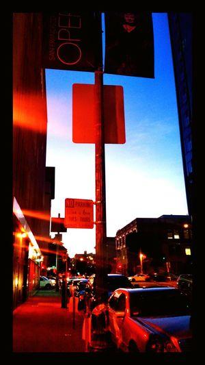 San Francisco Night Lights Twilight Fell Street