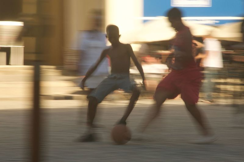 Cuba Blurred Motion Day Full Length Leisure Activity Lifestyles Long Exposure Men Motion One Person Outdoors People Real People Skill  Soccer Speed Go Higher