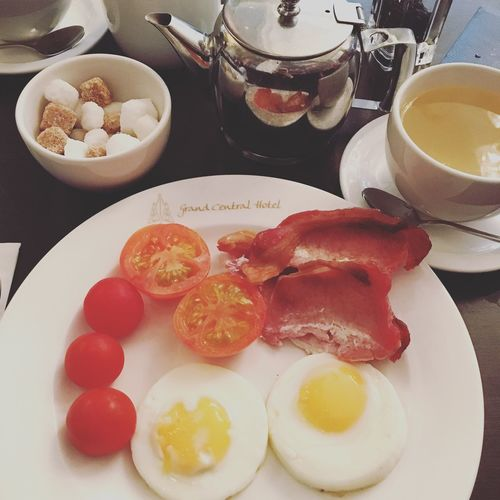 Good Morning Friday Breakfast Food Tea Glasgow  City Cityscapes City Life Cityscape Hotel Grand Central Travel Traveling Travel Photography Foodie EyeEm Best Shots EyeEm Gallery Scotland Photography Photooftheday EyeEmBestPics EyeEm Best Edits Eye4photography  Time For Breakfast