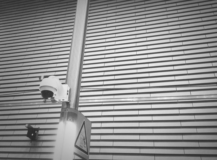 Dome CCTV camera on a lamp post
