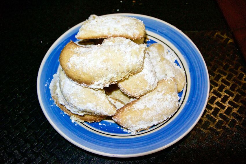 Vanillekipferl. Baked aboard in our unregulated boat oven. Bit tricky, but turned out okay. Baking Cookies Christmas Christmas Cookies Cookies Fresh Baked Xmas Baking Blue Close-up Dessert Food Food And Drink Freshness German Bakery Germany High Angle View Indoors  No People Nom Nom Nom Plate Ready-to-eat Sweet Food Tasty Vanillekipferl Xmas Cookies
