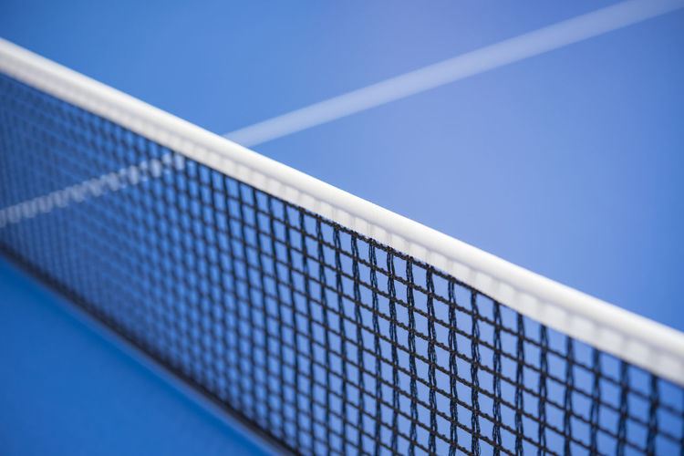 Blue Clear Sky Close-up Court Day Net - Sports Equipment No People Outdoors Ping Sport Table Tabletennis Tennis Tennis Net Modern Workplace Culture
