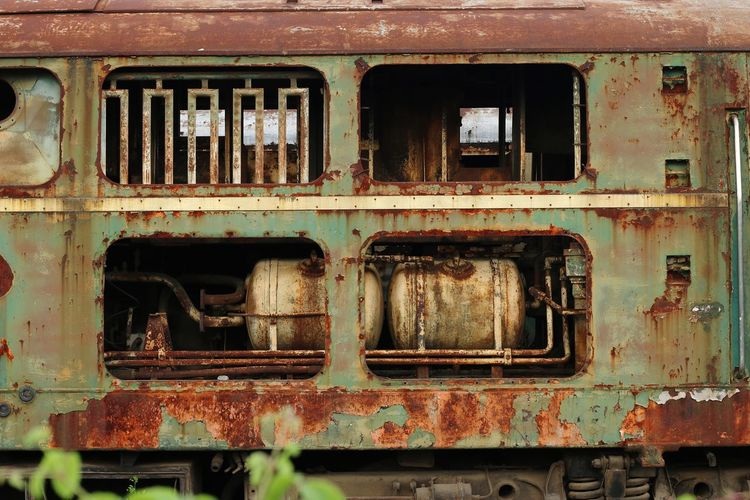 Bangkok Thailand. Rusty Obsolete Damaged Trains Ban Sue First Eyeem Photo