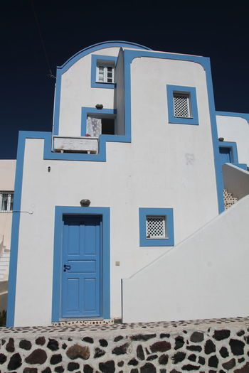 House Blue And White Santorini House In Santorini Greece Architecture Taking Photos Maison Check This Out Canon