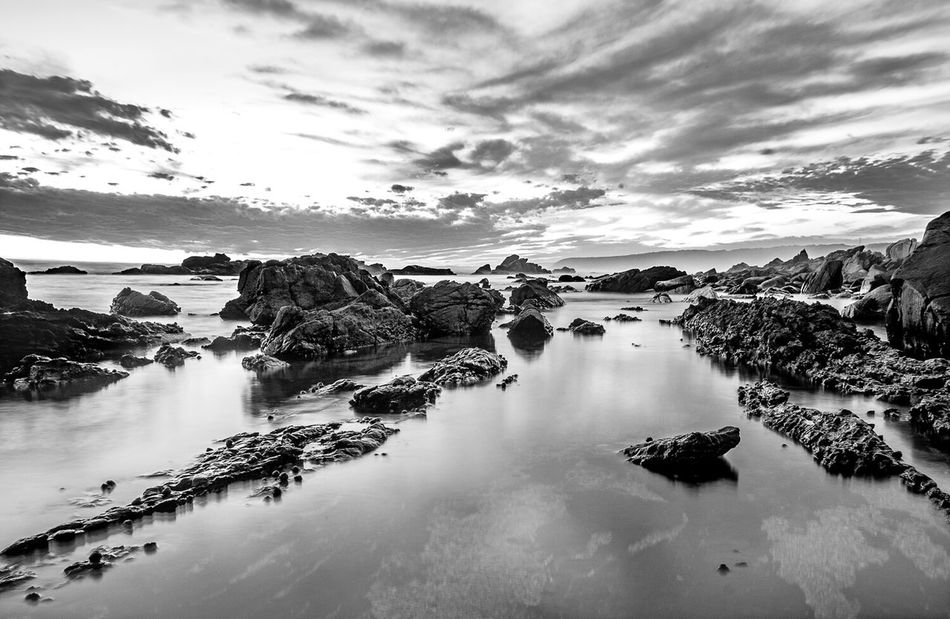Monochrome Photography Tranquil Scene Water Beauty In Nature Rock - Object Majestic South Africa Fujifilm_xseries Horizon Over Water