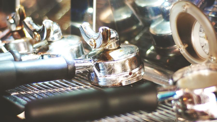Close-Up Of Faucet In Cafe