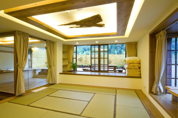 Day room space architectural design, beautiful simple, a life to enjoy Beautiful Elegant Home Japanese-style Lifestyle Room Architecture Building Built Structure Comfortable Day Decoration Domestic Room Home Interior Indoor Indoors  Interior Design Nature No People Simple Straw Mat Window