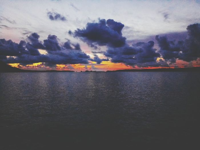 Sunset Sky No People Cloud - Sky Nature Outdoors Sea Water Scenics Landscape Multi Colored Day Horizon Over Water Beauty In Nature Thailand Asian  Blue White Beauty Beauty In Nature Mountain