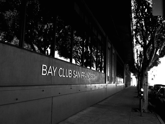 How ironic... A gym right across the street from a restaurant where I had a very filling meal. Blackandwhite Black And White Black & White Vanishing Point San Francisco