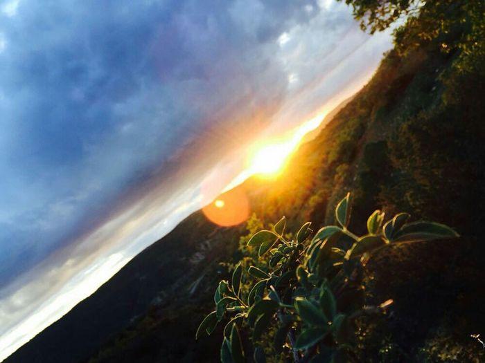 Duhok Sun Kurdistan 10 Frb Sky Beauty In Nature Cloud - Sky Scenics - Nature Tranquility Tranquil Scene Nature Growth Idyllic No People Plant Mountain Sunlight Sunset Sun Tree Low Angle View Lens Flare Sunbeam Land