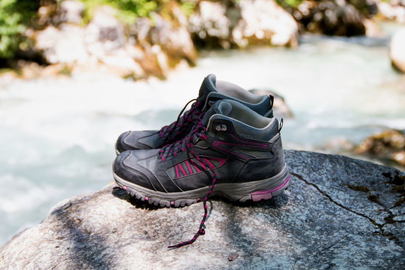 Wandern im Zauberwald in Ramsau, Berchtesgardener Land Close-up Day Flow  Focus On Foreground Mountain Sports Nature No People Outdoors Pause Relax On The Water Rock - Object Shoes Sports Clothing Walking Boots Water