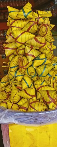 Yellow Day No People Outdoors Close-up Food Paint The Town Yellow Steamed Rice Close-up LeafWrap Delicacies LocalFood Culture Local Market Indonesianfood
