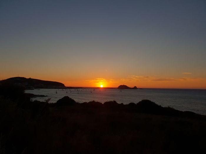 Corsica Water Sea Sunset Beach Astronomy Silhouette Sand Sun Summer Horizon