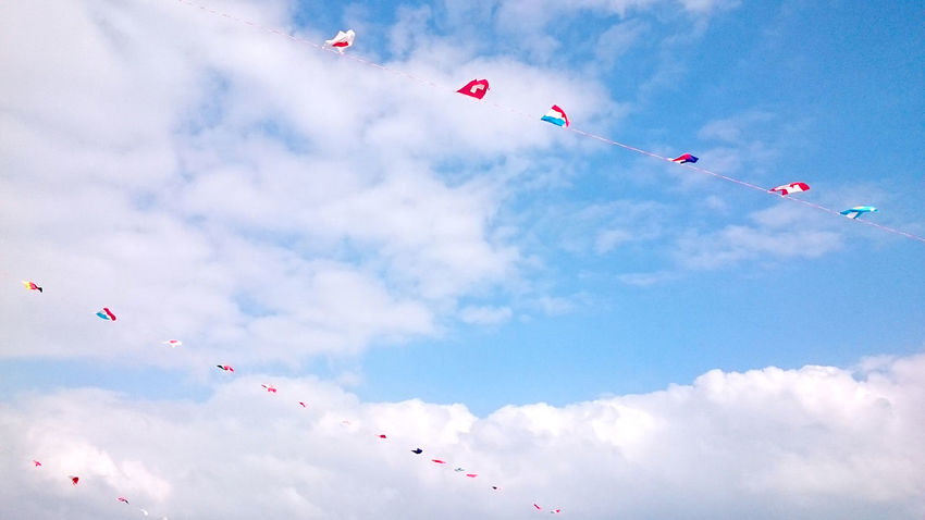 World bunting flags on blue sky. ☁🚩☁🚩☁ Blue Blue Sky Bunting Cloud Clouds Clouds And Sky Country Flags Decoration EyeEm Best Shots Festival Flag Flags Flags Of All Nations Flying Mid-air National Flag Outdoors Sky Sky And Clouds Sky_collection Skylovers Sunny Sunny Day Windy World