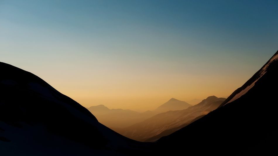 Mountain minimalism Austria Sky Mountain Beauty In Nature Scenics - Nature Sunset Mountain Range Environment Copy Space Tranquil Scene Landscape Clear Sky Outdoors Physical Geography Silhouette