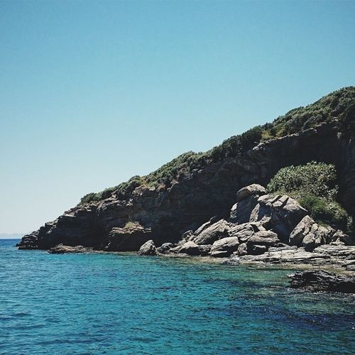 Vscocam Datça Bodrum Mediterraneansea Sea water tranquility beach rock stones