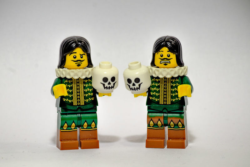 Acting Actor Drama LEGO Shakespeare Theater To Be Or Not To Be William Shakespeare Art And Craft Communication Day Deep Thoughts Doll Human Representation Indoors  Lego Minifigures Legominifigures Legophotography No People Studio Shot White Background Yellow