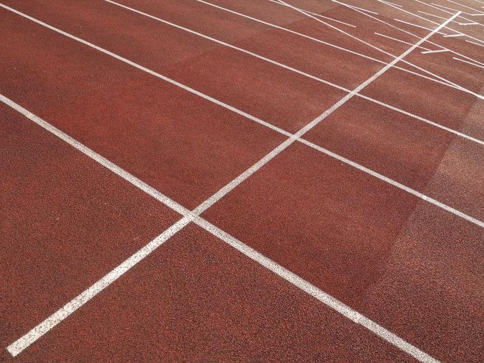 Full frame shot of red track field