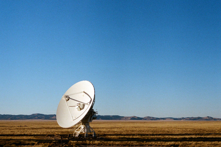 35mm Film Analogue Photography Observatory Radio Very Large Array, New Mexico Analog Astronomy Blue Clear Sky Day Desert Landscape Sky Technology Very Large Array Vla