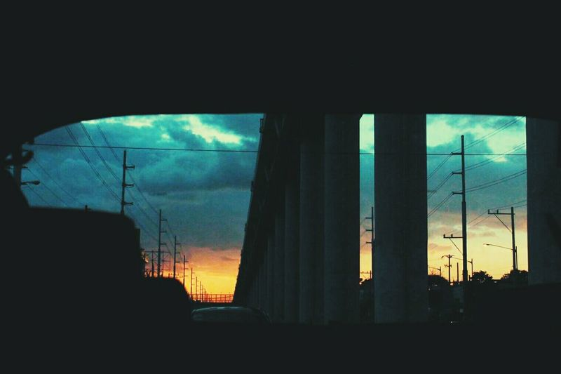 Sunsets. Window Transportation Land Vehicle Sky First Eyeem Photo