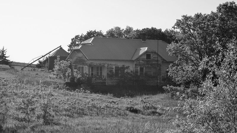 Visual journal June 2017 Western, Nebraska Abandoned Abandoned Places B&w Photography Building Exterior Built Structure Camera Work Everyday Lives EyeEm Best Shots EyeEm Gallery Field Getty Images Grass Growth House Nature Nikon D7000 No People Old Farmhouse Outdoors Photo Diary Practicing Photography Rural America Small Town Stories Storytelling Visual Journal