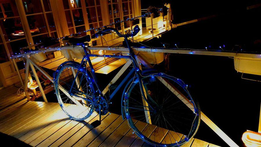 Blue Old Bicycle EyeEm Best Shots River View Restaurant Lihts And Shadows Beautiful EyeEm Gallery Eye Em Best Shots People Watching Lighting Chain Showcase: December