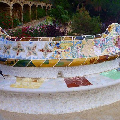 ИСнова Испания Барселона парк Гуэль красотаEspañaBarcelonaParqueGûell