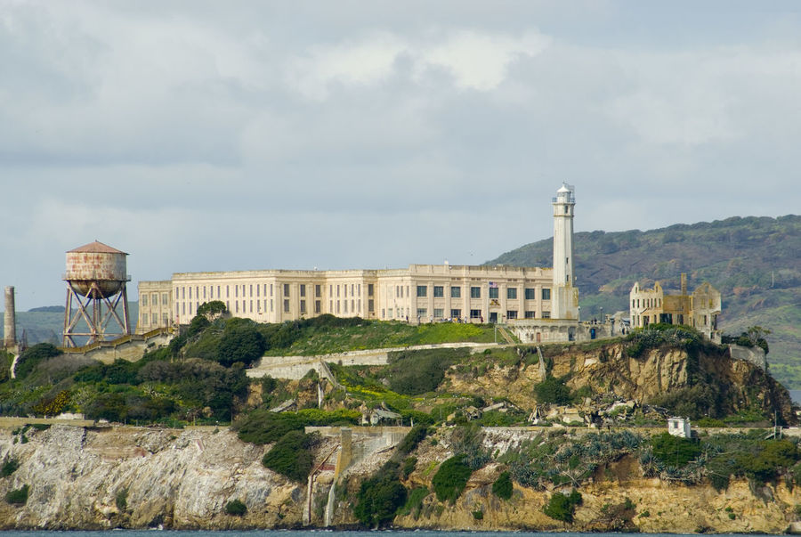 alcatraz prison island, one of the most recognisable islands in san francisco bay Abandoned Alcatraz Island Architecture California Cliffs Cliffs Of Moher  Cliffside DISUSED Escape Famous Historic Isolated Landmark Lighthouse Old Old Buildings Prison San Francisco Bay Tourist Attraction  Travel Destinations Water Tower