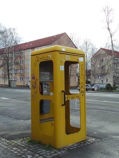 Communication Gelb Kommunikation Leipzig Phone Phone Booth Phone Box Phonebox Telefon Telefonzelle Yellow