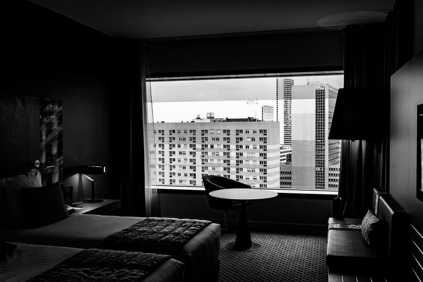 Absence Architecture Arrangement Backgrounds Blinds Building Exterior Built Structure Closed Full Frame Glass - Material Home Home Interior Hotel Window Indoors  Modern Narrow Order Pattern Repetition View View From The Hotel Window View From The Window... Wall Window