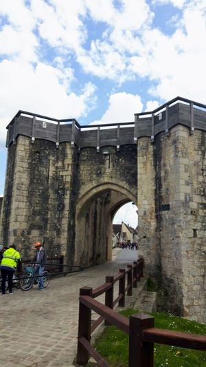 Provins - France Door Porte De Jouy - XIIIe Siecle Fortress Towers And Ramparts People Cyclists Bicycles Street Photography Stone Road Remembering Holiday Eye4photography  EyeEm Gallery