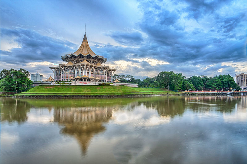 DUN Building, Kuching Waterfront Architecture Built Structure City Cloud - Sky Day Dome DUN Buildin Kuching LAndmark Kuching Waterfront No People Outdoors Reflection Sarawak Like No Others Sky Travel Travel Destinations Waterfront